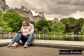 HDR Engagement Photo in Central Park