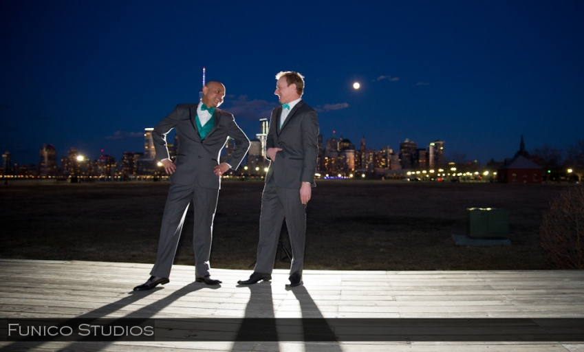 liberty house nj same sex wedding photo
