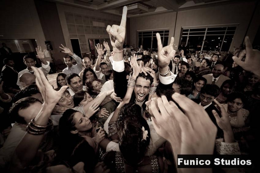 Indian wedding reception at hyatt regency jersey city
