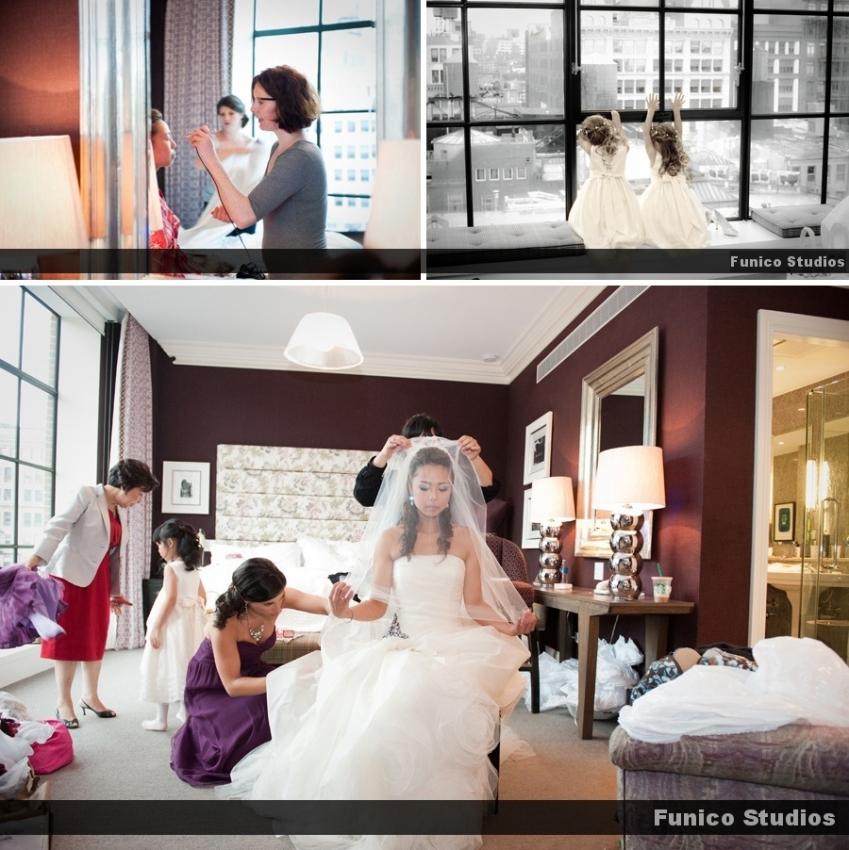 bride gets ready at crosby hotel