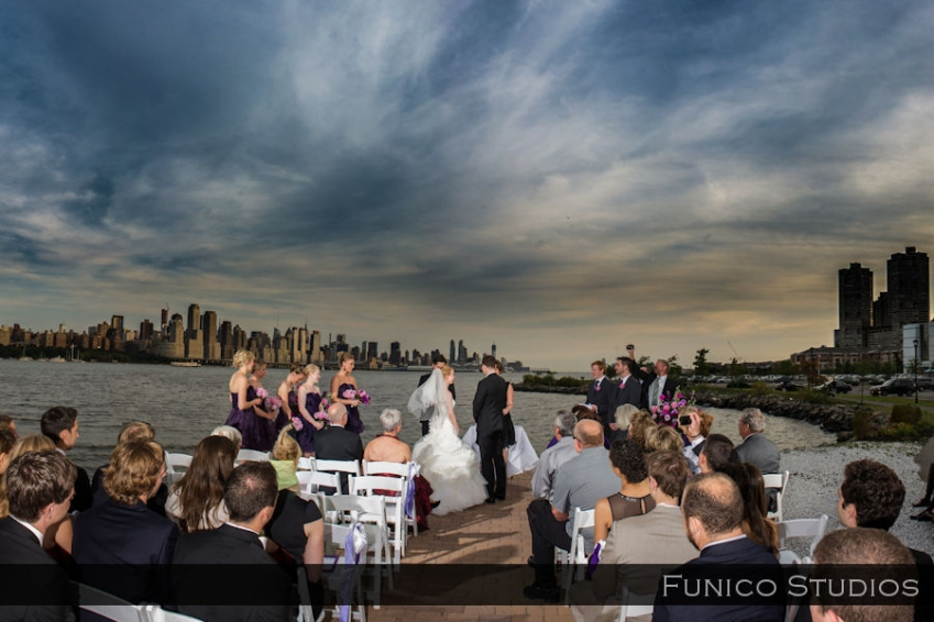 waterside restaurant wedding picture
