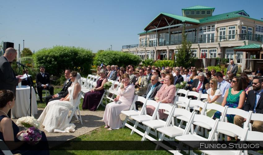 liberty house restaurant nj wedding ceremony outside