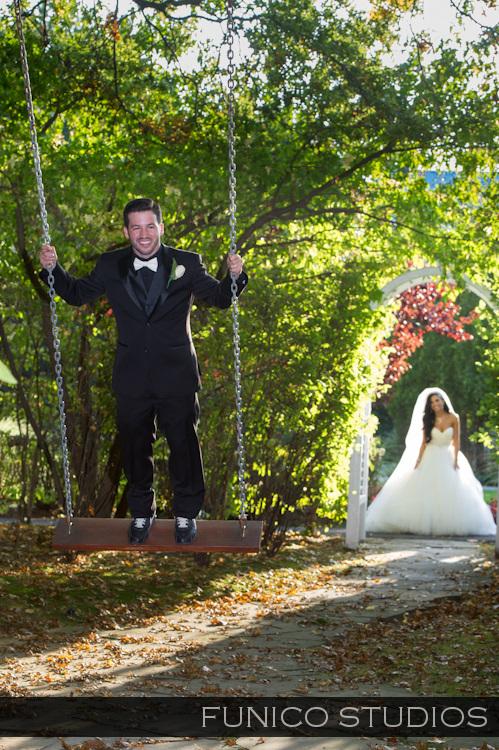 fun wedding couple at nicotra