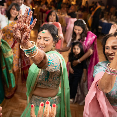 Anjali + Gregg's Sangeet & Wedding Photos at the Stone House, NJ